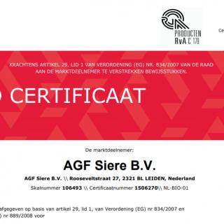Bio certificaat